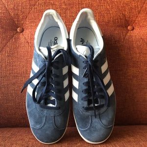 adidas Shoes - Adidas    Gazelle Sneaker In Trace Blue and White 943b6a5ef4a